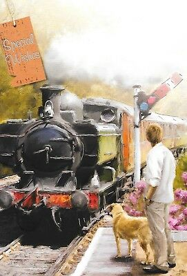 Blank Everyday  Card,Steam Train Theme,Male,Traditional Top Quality(M6)