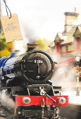 Blank Everyday  Card,Steam Train Theme,Male,Traditional Top Quality(M7)