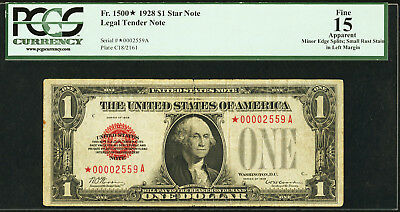 gorgeous & rare 1928 Fr 1500* STAR $1 note PCGS graded