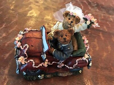 Boyds Bears Music Box Resin Collectable 1E (RARE) #270110SF Bride & Groom
