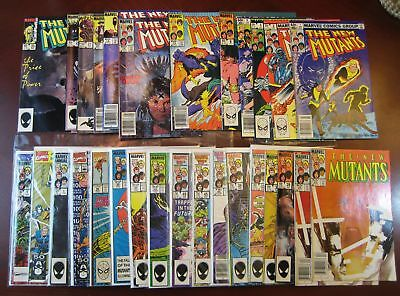 large New Mutants lot - 39 comics - 1 2 14 18 25 26 x2 100 Magik Warlock Legion