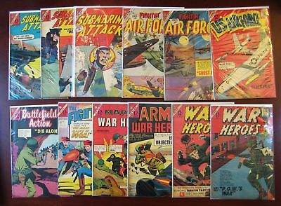 lot of 12 war comics - silver age 12 cent - War Heroes #5 #9 Marine #1 Army #2