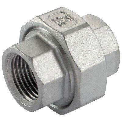 "Stainless Steel Pipe Union.  Pipe Joiners.  Pipe Fittings From 1/8"" to 2"""