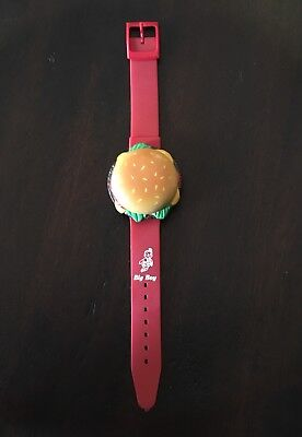 Vintage Bob'S Big Boy Restaurant Hamburger Watch *very Rare!