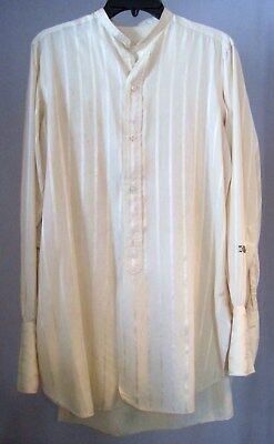 Men's Vintage Early 1900's STRIPED SILK DRESS SHIRT MacDonald & Campbell Phila