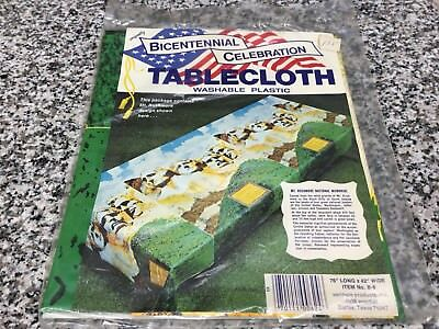 Vintage 1970s Unopened Mt. Rushmore Picnic Tablecloth NOS Retro Bicentennial