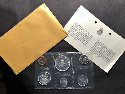 CANADA 1964 Proof-like Uncirculated Coin Set in Original Cellophane Wrapper