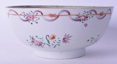 good 18th c chinese famille rose export porcelain bowl qianlong period qing