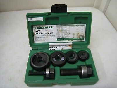 "Greenlee Slug Buster Knockout Punch Set 7235BB, 1/2 to 1-1/4"" Conduit"