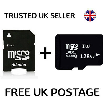 128GB Micro SD Card Flash Memory Class 10 SDXC for mobile phones Laptops New UK