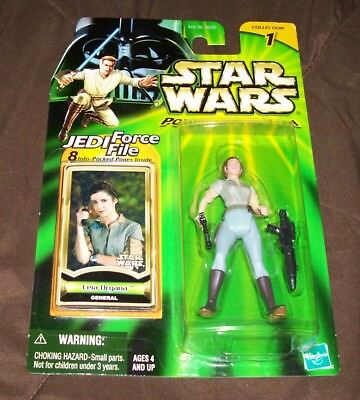 Star Wars Power of the Jedi General Leia Organa Action Figure Hasbro