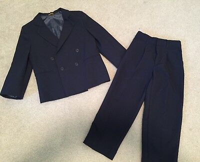 EUC Boys Size 6 Mark Jason Navy Blue Suit Jacket & Dress Pants Set Easter
