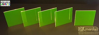 Acrylic Perspex® Fluorescent Yellow Cut Sheets - Cut Panels