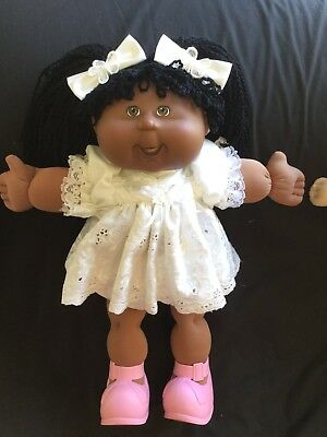 Cabbage Patch Kid Doll Dress Set White Anglaise