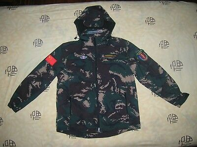 07's series China PLA Special Forces Digital Camo Winter Technical Jacket,A