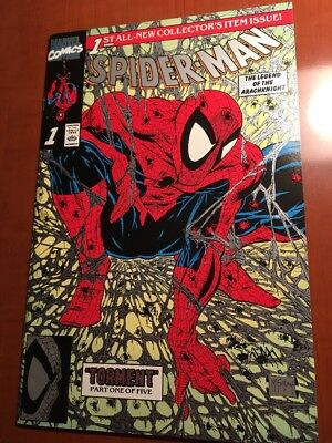 Spider-Man 1 Platinum Edition McFarlane Cover VF+ Cond.  Includes Letter