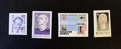 Hungary Scott No.3118,3128,3129,3135 MNH Imperforate Imperf Imp Stamps of 1988