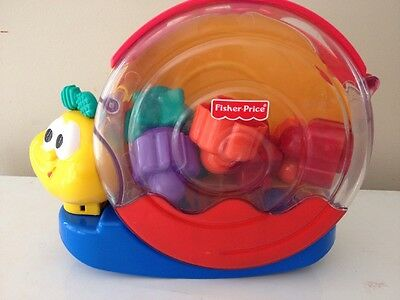 Fisher-Price Musical Rocking Snail Shape Sorter - see how it works b4 buyN