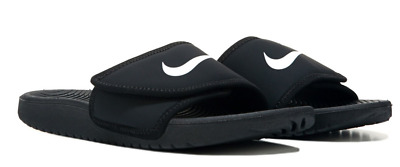 Nike Boy's Kawa Adjust (GS/PS) Black/White Slide Sandals - Assorted Sizes NWB