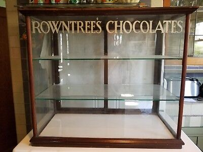 antique rowntree chocolate shop display cabinet old vintage store industrial