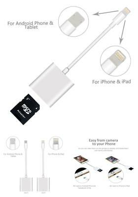Camera SD Card Reader Adapter Cable Apple for iPhone/iPad Pro Air Mini NEW US