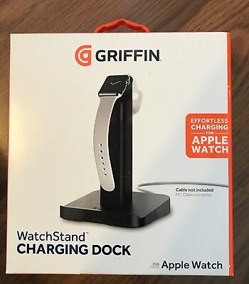Griffin Apple Watch Stand Charging Dock for Apple Watch Black