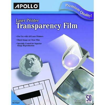 Apollo VCG7060E Laser Jet Printer and Copier Transparency Film, 50 Sheets...