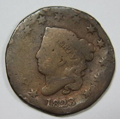 1823 Liberty Matron Head Large Cent Penny Old US Coin NR P1R XX043