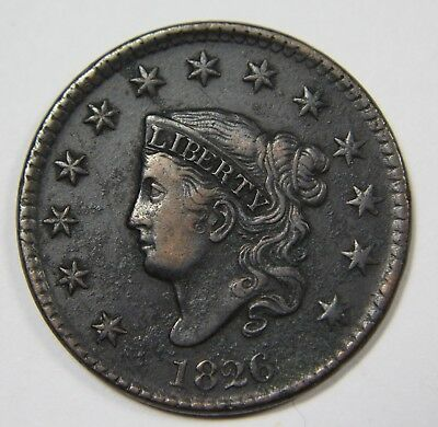 1826 Liberty Matron Head Large Cent Penny Old US Coin NR P1R XX040
