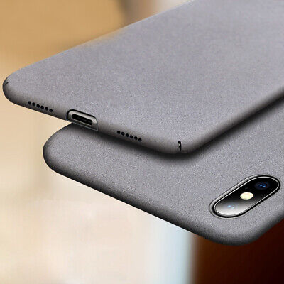 For iphone 11 Pro Max XS MAX XR X 8 7 6 6S +5 SE PC Hard Sandstone Cover Case