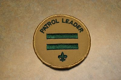"Vintage 1970's Boy Scout Bsa 'patrol Leader' 3"" Patch"