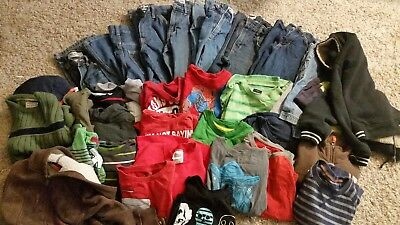 Large Lot of boys clothes 35 pieces  sizes 5-8 small extra small size 5, 6-7 8