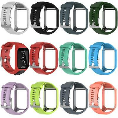 For TomTom Runner 2&3/Golfer 2/Spark 3 Silicone Watch Wrist Band Strap Bracelet