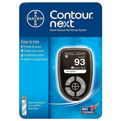 Contour Next Blood Glucose Meter Bayer Monitoring System Bayer NEW