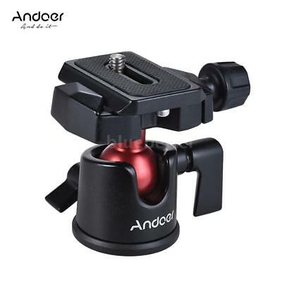 360° Tripod Monopod Ball Head Quick Release Plate Kit for DSLR Camera Camcorder