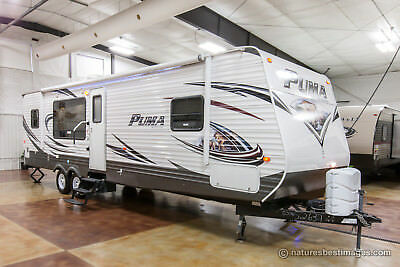 2014 Palomino Puma 30RKSS Rear Kitchen Travel Trailer with Slide Used Excellent