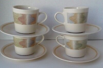 VINTAGE CORELLE by Corning Mirage Pattern Discontinued Set of 4 Cups ...