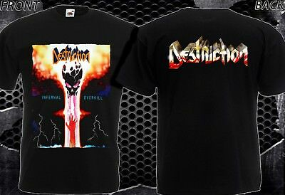 1c412335 Destruction Infernal Overkill-New T-Shirt Men's-Dtg Printed Tee Size-S