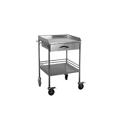 Clinic Medical Lab Dental Trolley Cart 2 Layer With Upper Drawer 50*40*86cm BCl