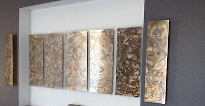 Original Jon Allen 2010 Abstract Metal Wall Art Silver/ Copper/ Bronze (EUC)