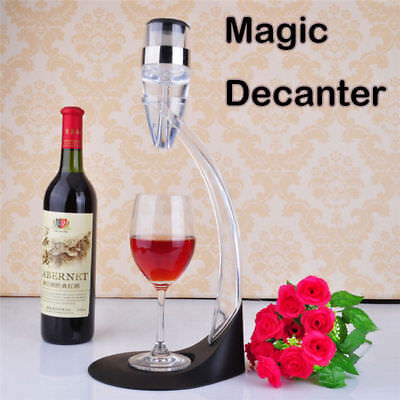Large Whiskey Magic Decanter Wine Aerator Pourer Spout Quick Aerating Tool