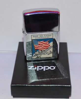zippo   Rare  Keep Em Flying Is Our Battle Cry  de 1992
