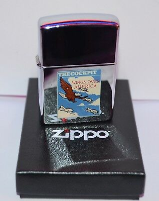 zippo   Rare  The Cockpit Wings Over America de 1992 aigle
