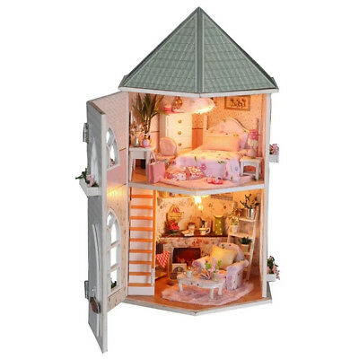 DIY Handcraft Miniature Project Kit Wooden Dolls House My Pink Little House UK