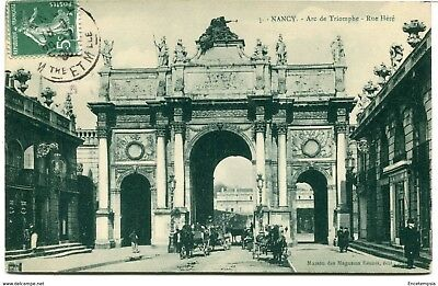 CPA - Carte postale - France -  Nancy - Arc de Triomphe - Rue Héré - 1908 (CP912