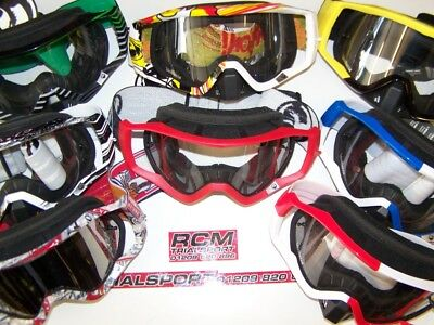 MX Goggles Clearance Dragon vendetta Tear off compatible red green blue yellow