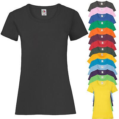 T-Shirt Da Lavoro Donna Maglietta Maniche Corte Fruit of The Loom Valueweight