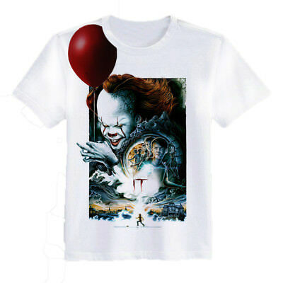 It-Pennywise 3d Print T-shirt Stephen King Horror Clown Funny Cool Size S-7xl