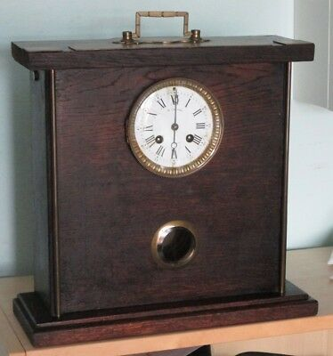 French Striking Mantle Clock. A.D. Mougin, unusual case, complete, not running.