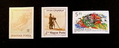 Hungary Scott No. 3180,3181,3194 MNH Imperforate Imperf Imp Stamps of 1989